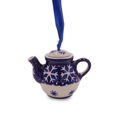 Snowflake Teapot Ornament