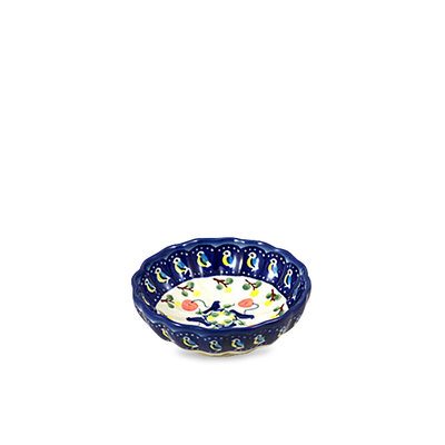 Blue Bird Scalloped Dish 12