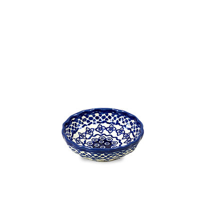 Diamond Lattice Scalloped Dish 12