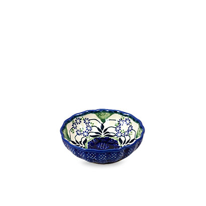 Forget Me Nots Scalloped Dish 12