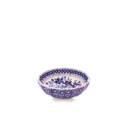 Indigo Garden Scalloped Dish 12