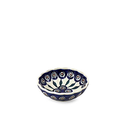 Peacock Scalloped Dish 12