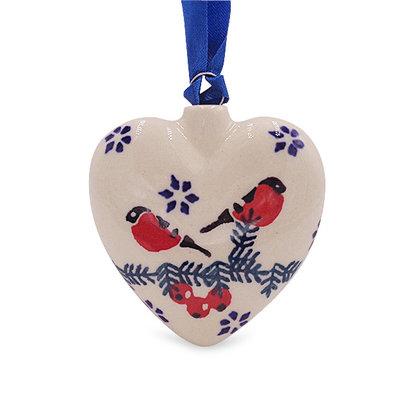 Carolers Puffy Heart Ornament