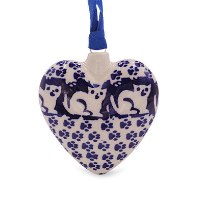 Jack's Cat Puffy Heart Ornament