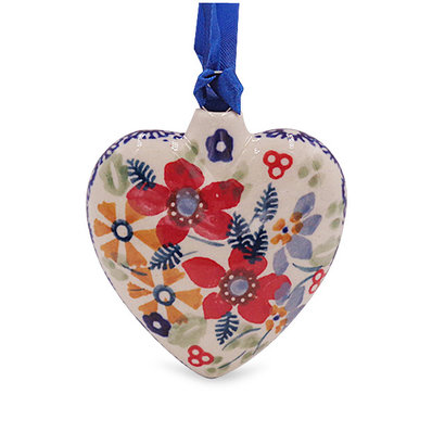 Posies Puffy Heart Ornament