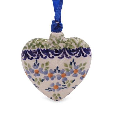 Wisteria Puffy Heart Ornament