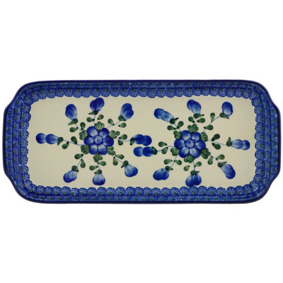 Blue Poppy Rectangular Tray - Sm