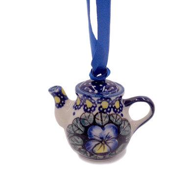 Pansies Teapot Ornament