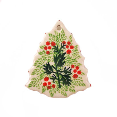 CA Holly Berry Tree Ornament