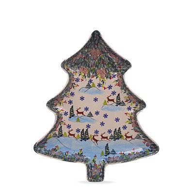 Kalich Reindeer Christmas Tree Platter - Sm