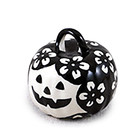 Ebony Blossom Pumpkin Ornament
