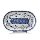 Bell Flower Oval Tray - Sm