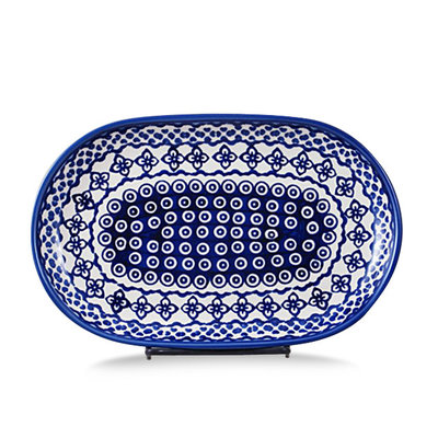 Diamond Lattice Oval Tray - Sm