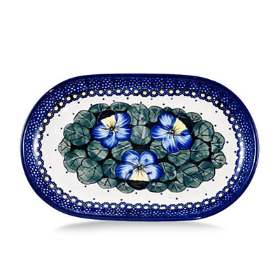 Pansies Oval Tray - Sm