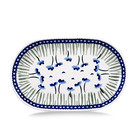Blue Poppies Oval Tray - Sm