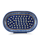 Midnight Daisy Oval Tray - Sm