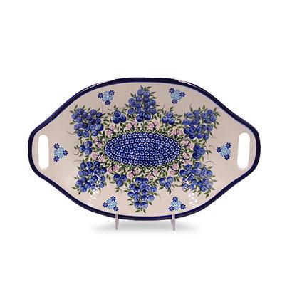 Blue Berries Bread Platter