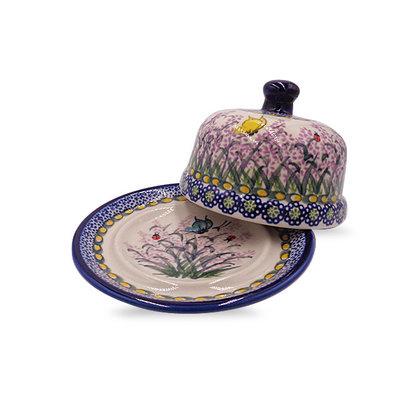 Larkspur Round Butter Dish