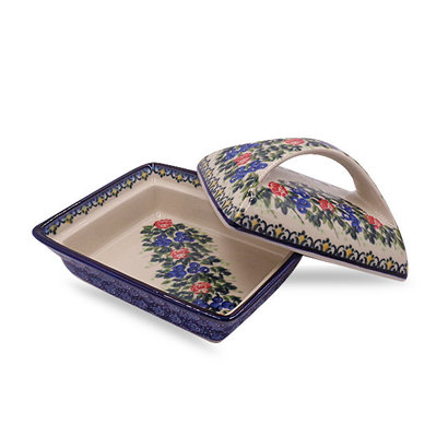 Trail of Roses Deep Butter Dish