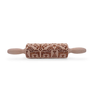 Scandanavian Embossed Rolling Pin 4 1/2""