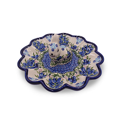 Blue Berries Egg Plate w/ Bunny