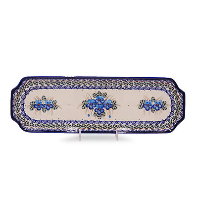 Double Blue Rectangular Tray - Sm