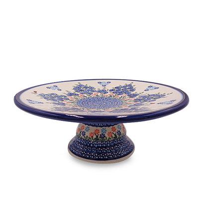 Blue Berries Cake Plate - Sm