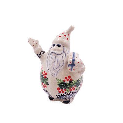 Holly Berry Bubble Santa