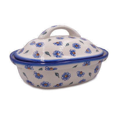 Painted Daisy Covered Casserole