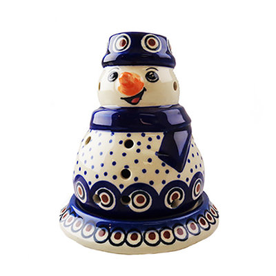Dotted Peacock Illuminated Snowman