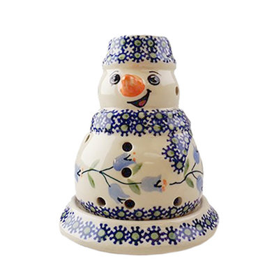 Bell Flower Illuminated Snowman