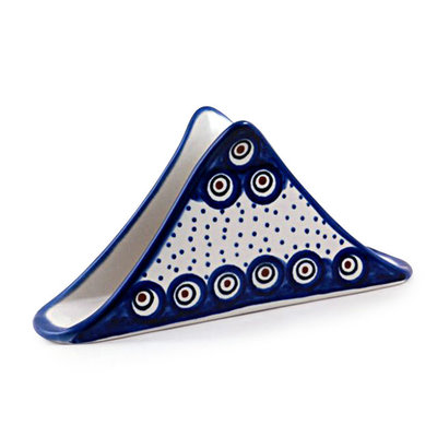 Dotted Peacock Triangular Napkin Holder