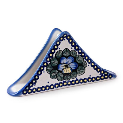 Pansies Triangular Napkin Holder