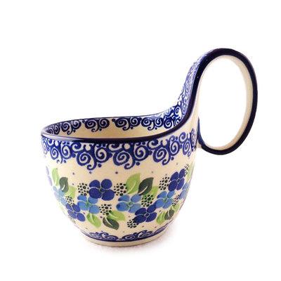 Blue Phlox Loop Handled Soup Cup
