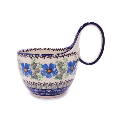 Morning Glory Loop-Handled Soup Cup