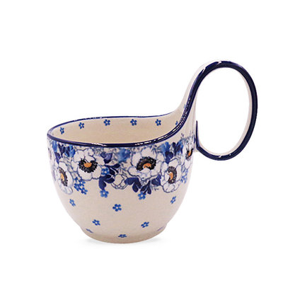Snow Poppy Loop Handled Soup Cup
