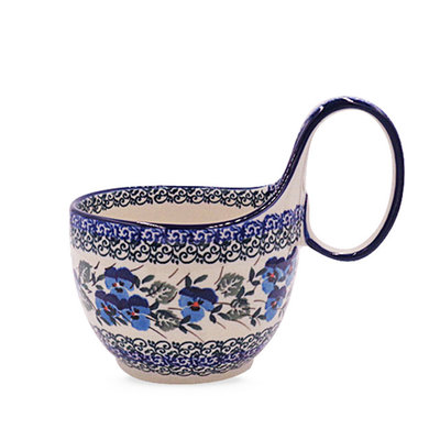 Winter Viola Loop Handled Soup Cup