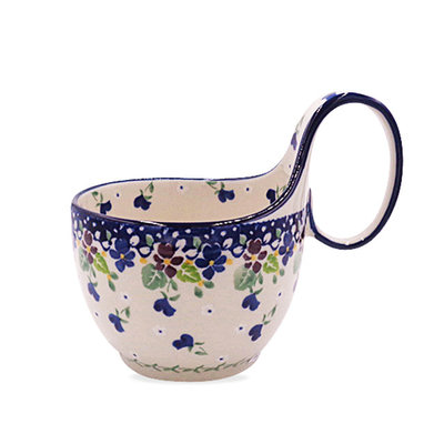 Plum Luck Loop Handled Soup Cup