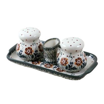 Tuscany Salt & Pepper Set w/ Tray