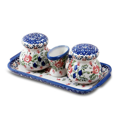 Lidia Salt and Pepper w/ Tray
