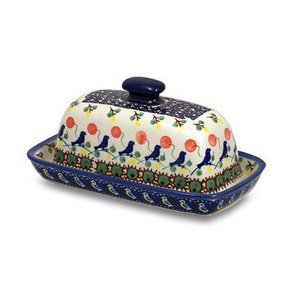 Blue Bird Butter Dish
