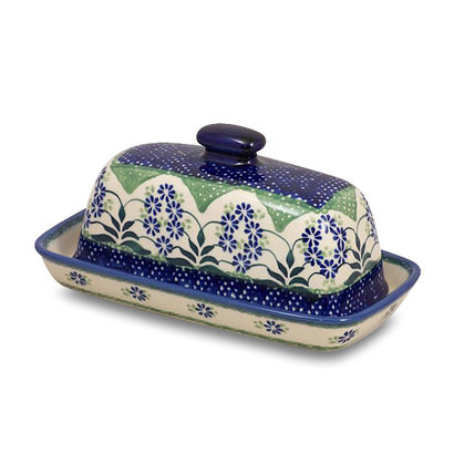 Forget Me Nots Butter Dish