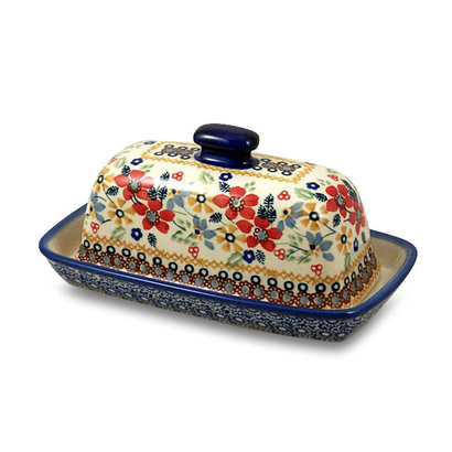 Posies Butter Dish