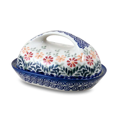 Marigolds Butter Dish w/ Handle