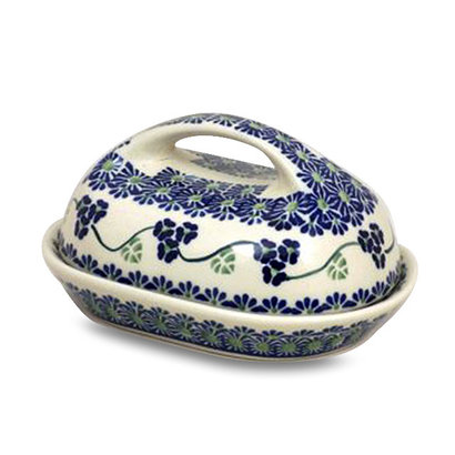 Three Sisters Butter Dish w/ Handle