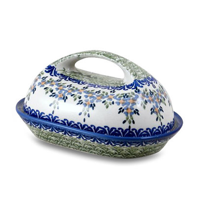 Wisteria Butter Dish w/ Handle