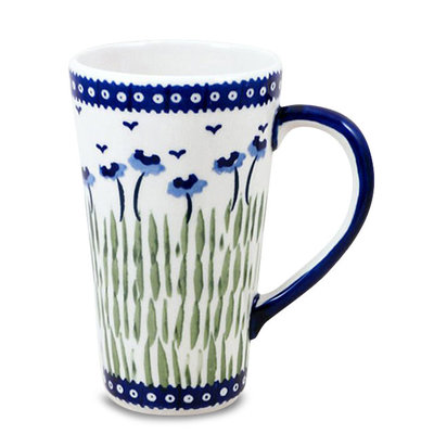 Blue Poppies Tall John Mug