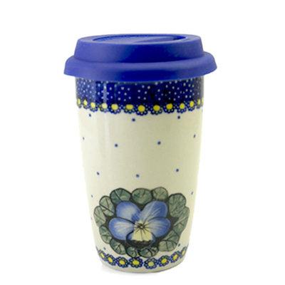 Pansies Travel Mug