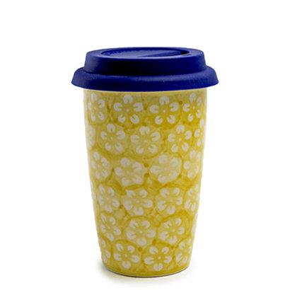 Yellow Blossom Travel Mug