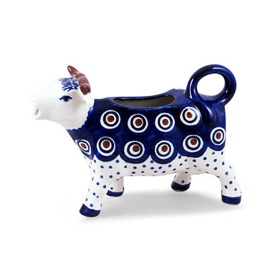 Dotted Peacock Cow Creamer